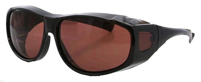 Überbrille Sonnenbrille Glänzend Schwarz Fit-Over Brille für Brillenträger Fit-over 100% UV 400 Schutz Blockieren Blaues Licht Objektiv + Beutel s9qU4Y