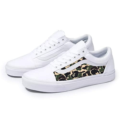 Amazon.com: Vans White Old Skool x Bape