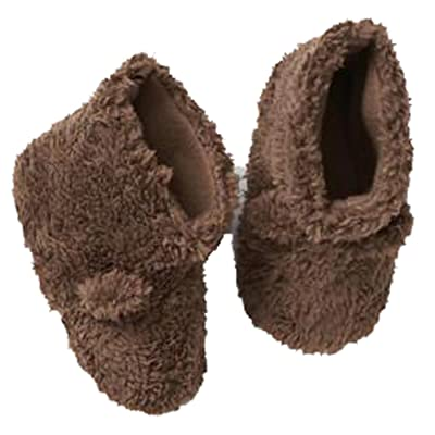 Baby Gap Brown Faux Fur Sherpa Bear Lined Slippers M 7-8