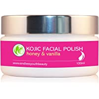 Facial Polish Honey and vanilla Scrub with Kojic Acid for Skin Whitening Lightening