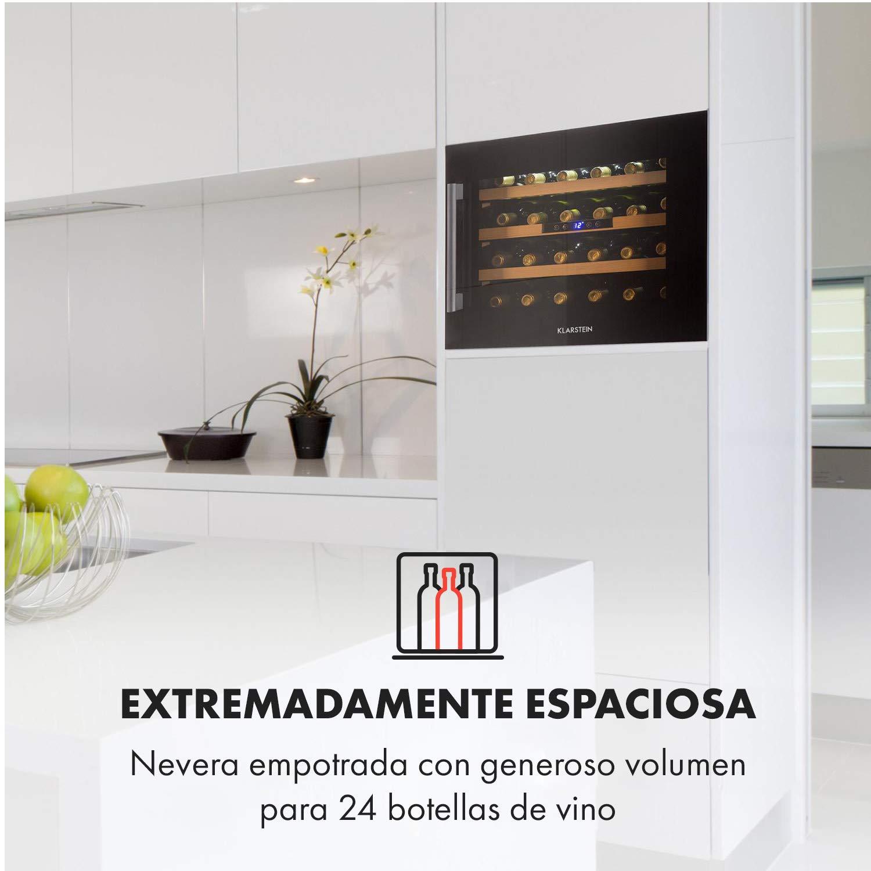Klarstein Vinsider 24 Onyx Edition - Nevera para vinos con puerta ...