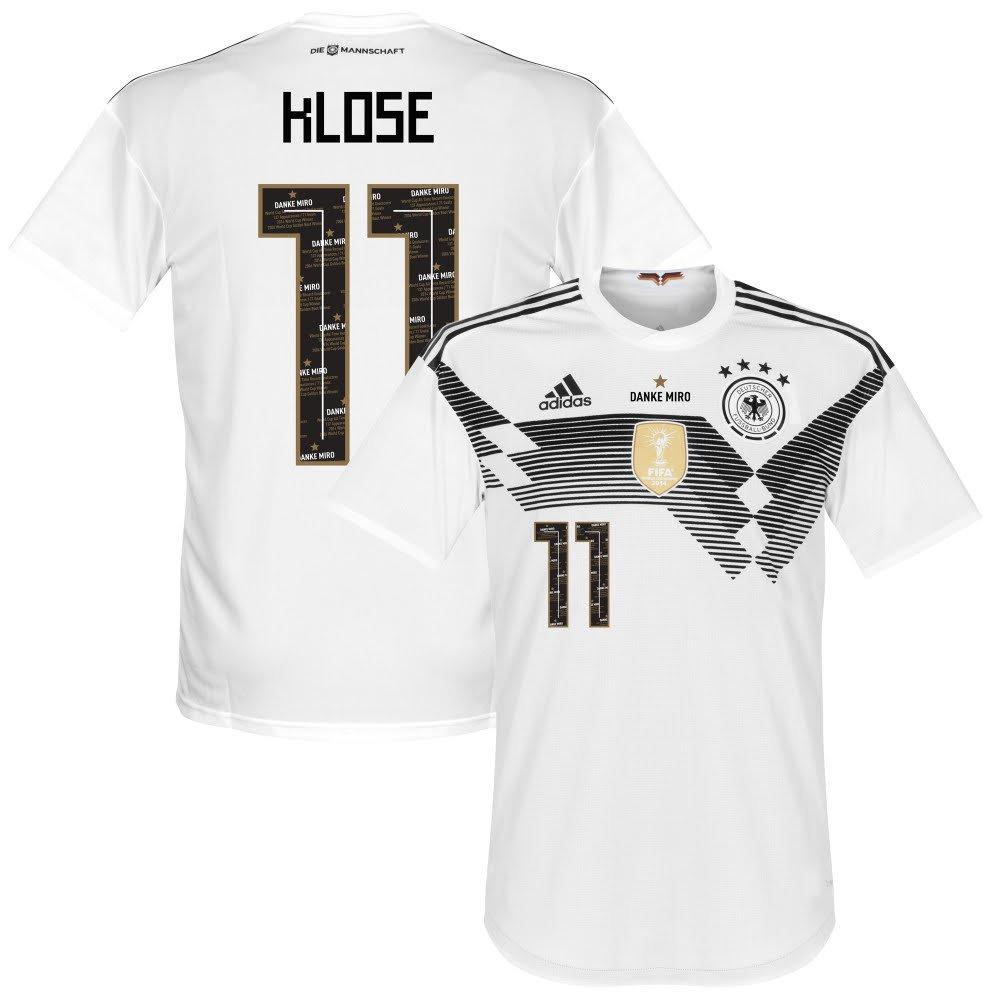Deutschland Home Trikot 2018 2019 inkl Danke Miro Klose 11 Beflockung