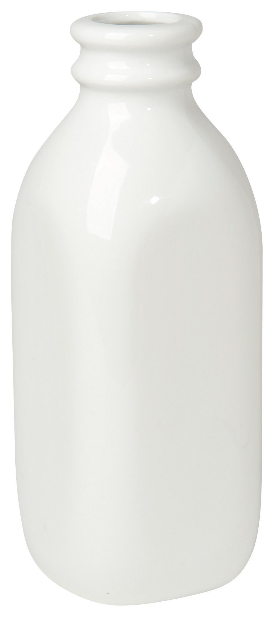 Now Designs Ceramic Milk Bottle, Large, White - This larger milk bottle measures 9 inches tall, 3 inches diameter and hold 30 ounces. (Matching smaller bottle sold separately) This retro- inspired bottle is made from durable ceramic Perfect for serving milk or cream with tea and coffee - vases, kitchen-dining-room-decor, kitchen-dining-room - 61g0sAF9OsL -
