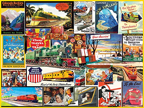 White Mountain Puzzles Travel by Train Jigsaw Puzzle (1000 Piece)