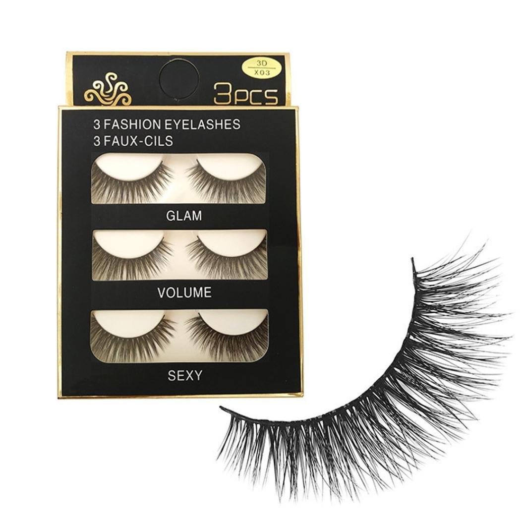 Amazon Eye Lashes Dzt1968 3pairlot Makeup 3d Natural Long
