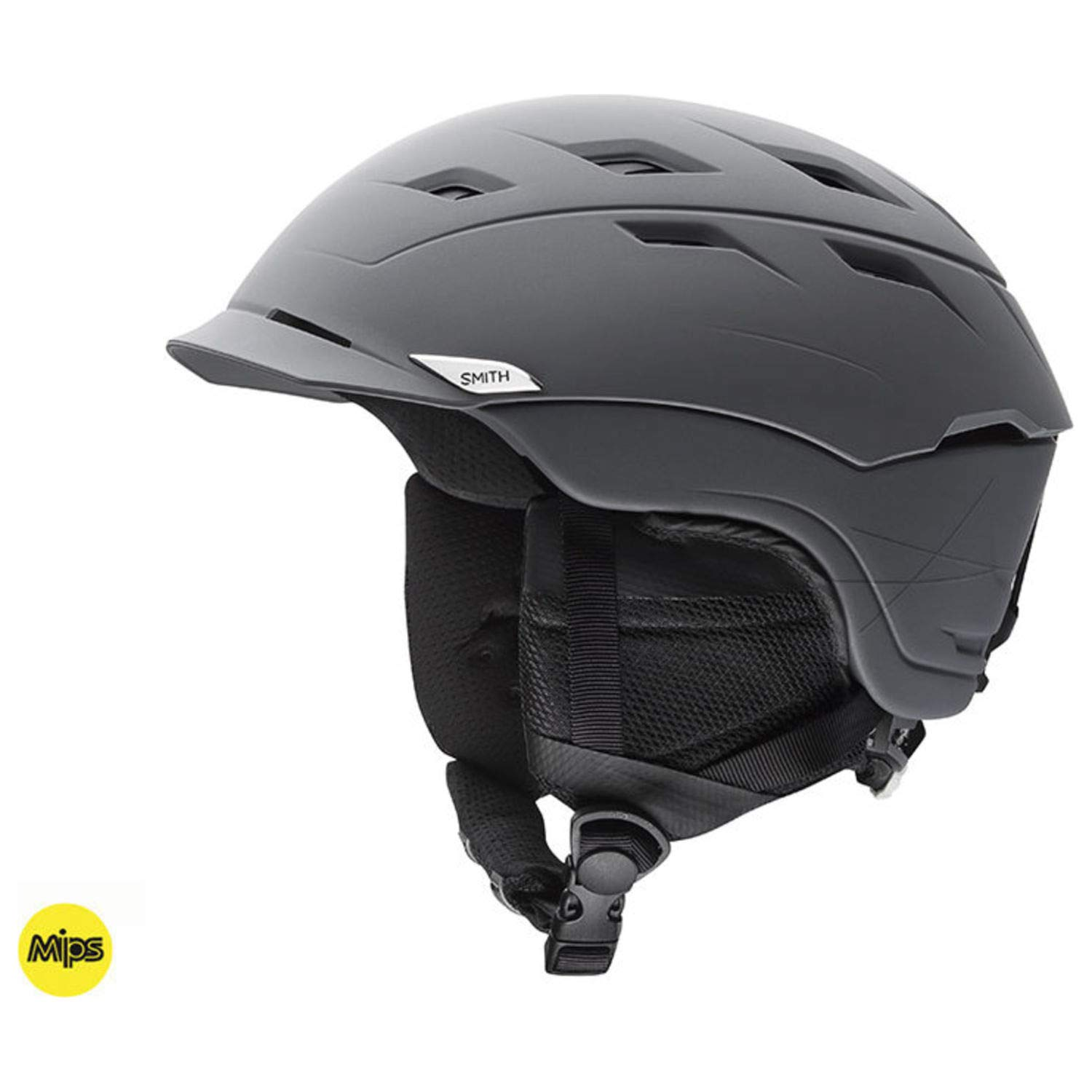 Smith Optics Variance Adult Mips Ski Snowmobile Helmet - Matte Charcoal/Small
