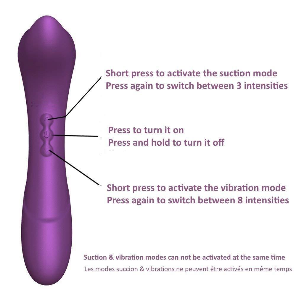 2 En 1 Juguetes De Y Estimulación Clitoriales Para Ella Y De Vibrador -Sex Toy 3 Suctions Y 8 Vibraciones - Clitorial Sucker - Recargable Para Mujeres, Pareja - Impermeable, Orgasmos - Silicona,Purple 82a93e