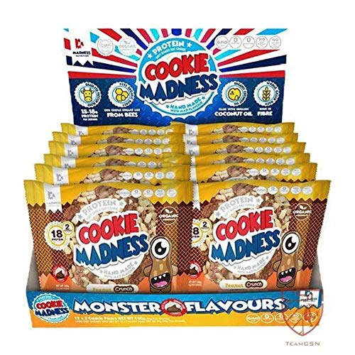 Madness Nutrition Cookie Madness Eiweiß Keks Box, 12 x 106g, (Chocolate Candy Monster)