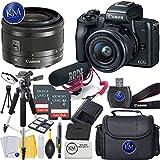 Canon EOS M50 Video Creator Kit w/ EF-M15-45mm Lens + 2x 32GB + K&M Photo Bundle