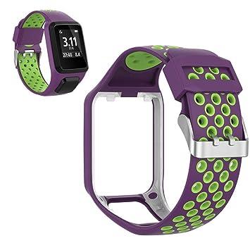 lesgos Compatible con la Correa de Reloj Tomtom, Correas de Correa de Reloj de Silicona Premium 2019 actualizadas para Tomtom Adventurer/Golfer 2 / ...