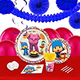 Pocoyo Childrens Birthday Party Supplies - Tableware and Decoration Pack (16)