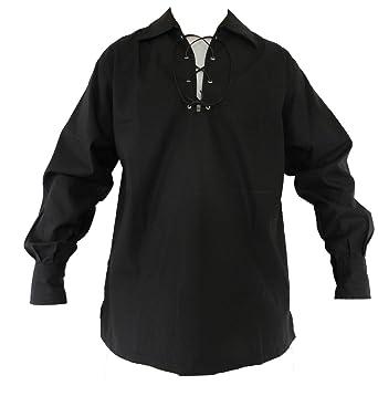 UT Kilts jacobite Ghillie Shirt - Black, Cream, or White at Amazon ...