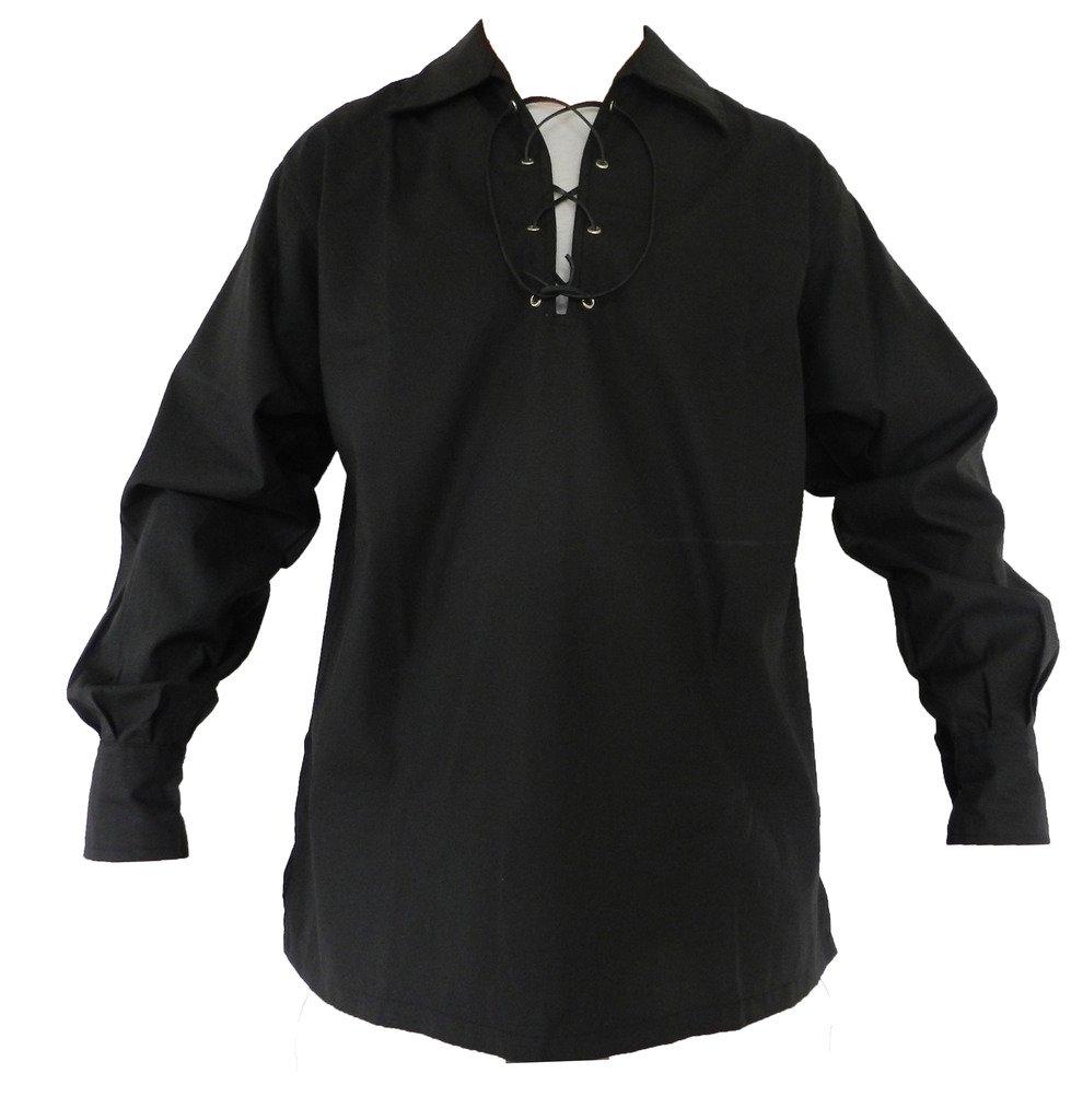 UT Kilts Jacobite Ghillie Shirt Black X-Large
