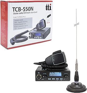 TTi TTI-PACK13 Radio CB tcb-550 + Antena pni ml100: Amazon.es ...