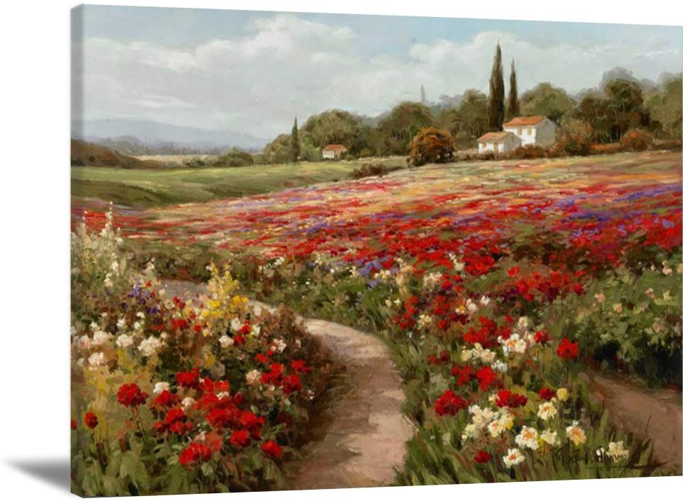 Claude Monet Painting Unframed Monet Canvas Wall Art Landscape Painting Monet Poppy Field Poster Impressionist Oil Painting Reproductions For Living Room Famous Painting Monet Poster 31 5 W X 23 5 H Posters Prints