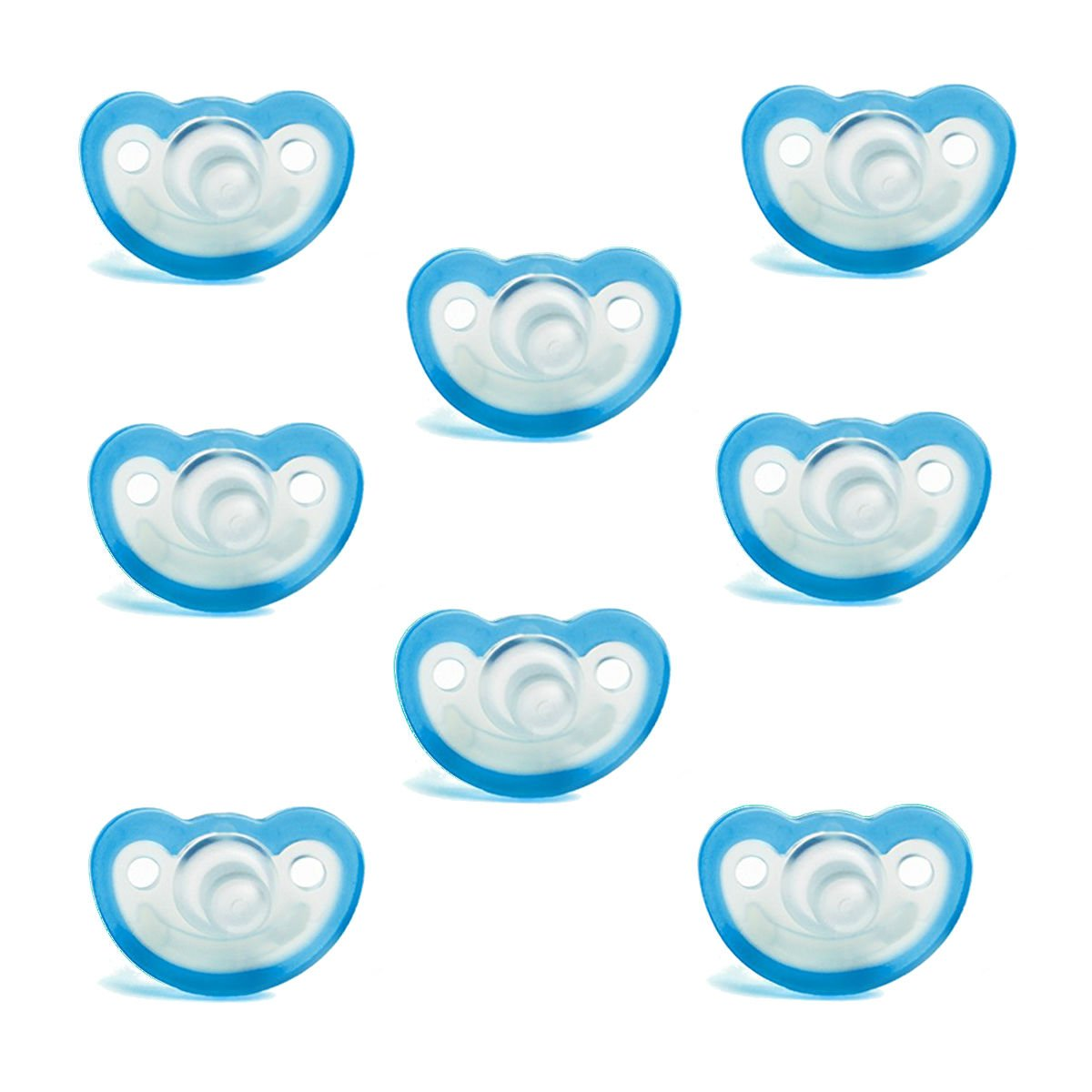 Razbaby JollyPop Baby Pacifier 3+ Months 8 Pack - Blue by Razbaby