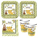 Baby Lion King 'Sweet Circle of Life' baby shower Party Supplies - Plates, Napkins, cups - serves 16
