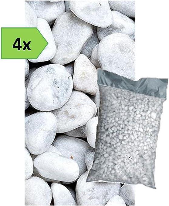 15//25 mm Sacco da 25KG Metroquadrocasa Ciottoli di marmo Bianco Carrara in sacchi sassi decorazione giardino ornamento