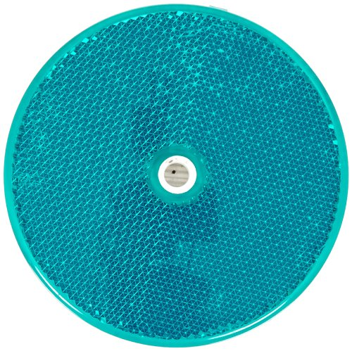 Tapco RT-90 Plastic Centermount Reflector with Plastic Center Hole, 3-1/4'' Diameter x 3/8'' Thick, Green by TAPCO (Traffic & Parking Control Co., Inc.) (Image #1)