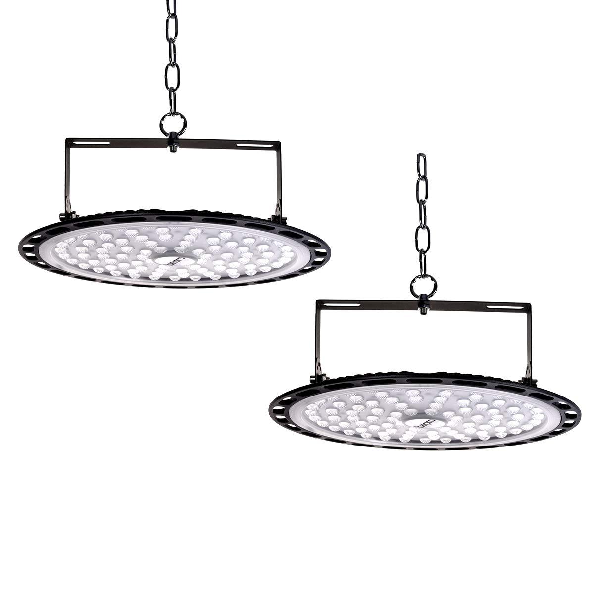 10er Led UFO Industrielampe,Led Hallenstrahler kaltwei/ß 6000K Industrieleuchte LED Strahler f/ür Werkst/ätten und Fabrikhallen 10000LM Industriestrahler 10er, 100W