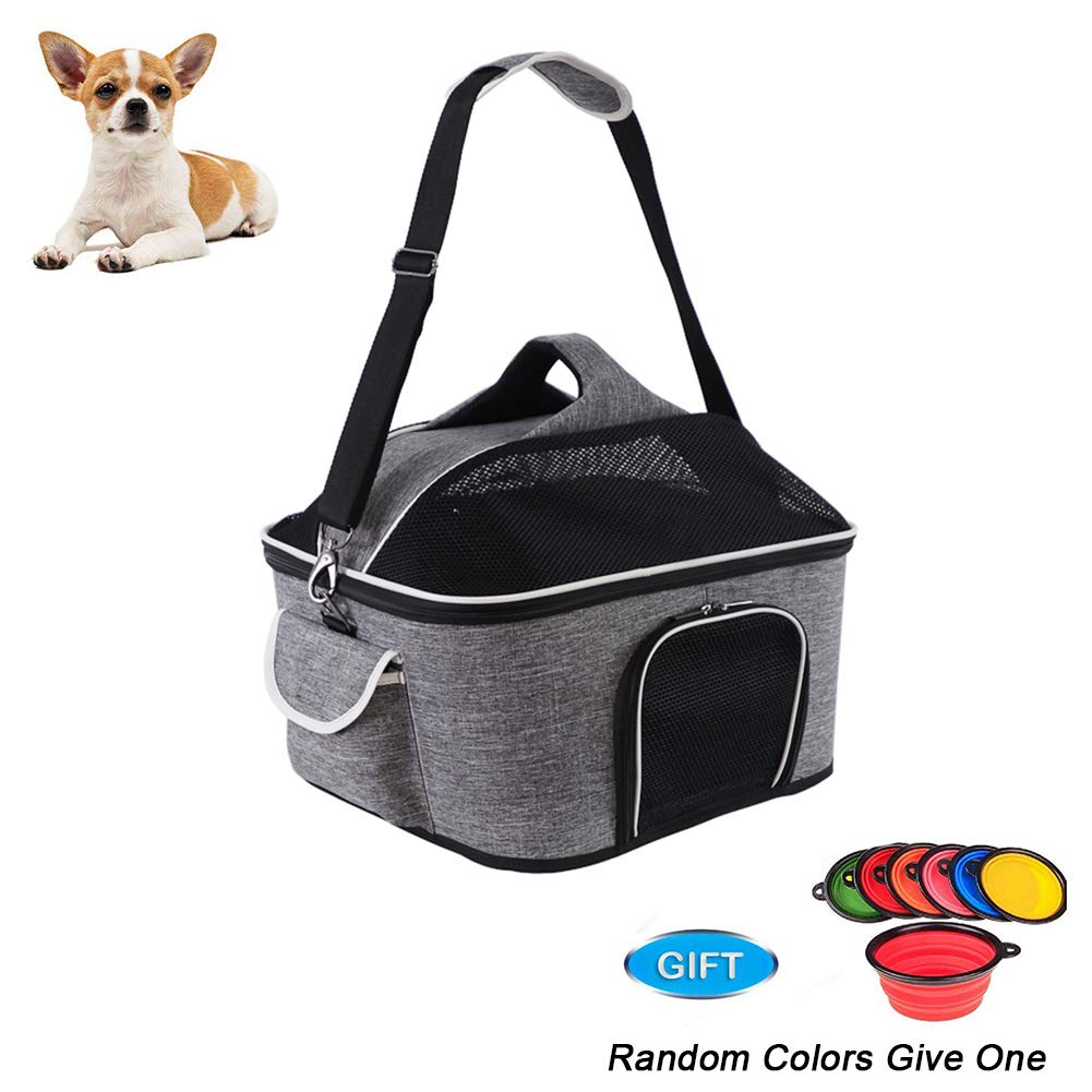 Hard Cover Pet Carrier for Cats and Puppies, Breathable, 47  35  30cm