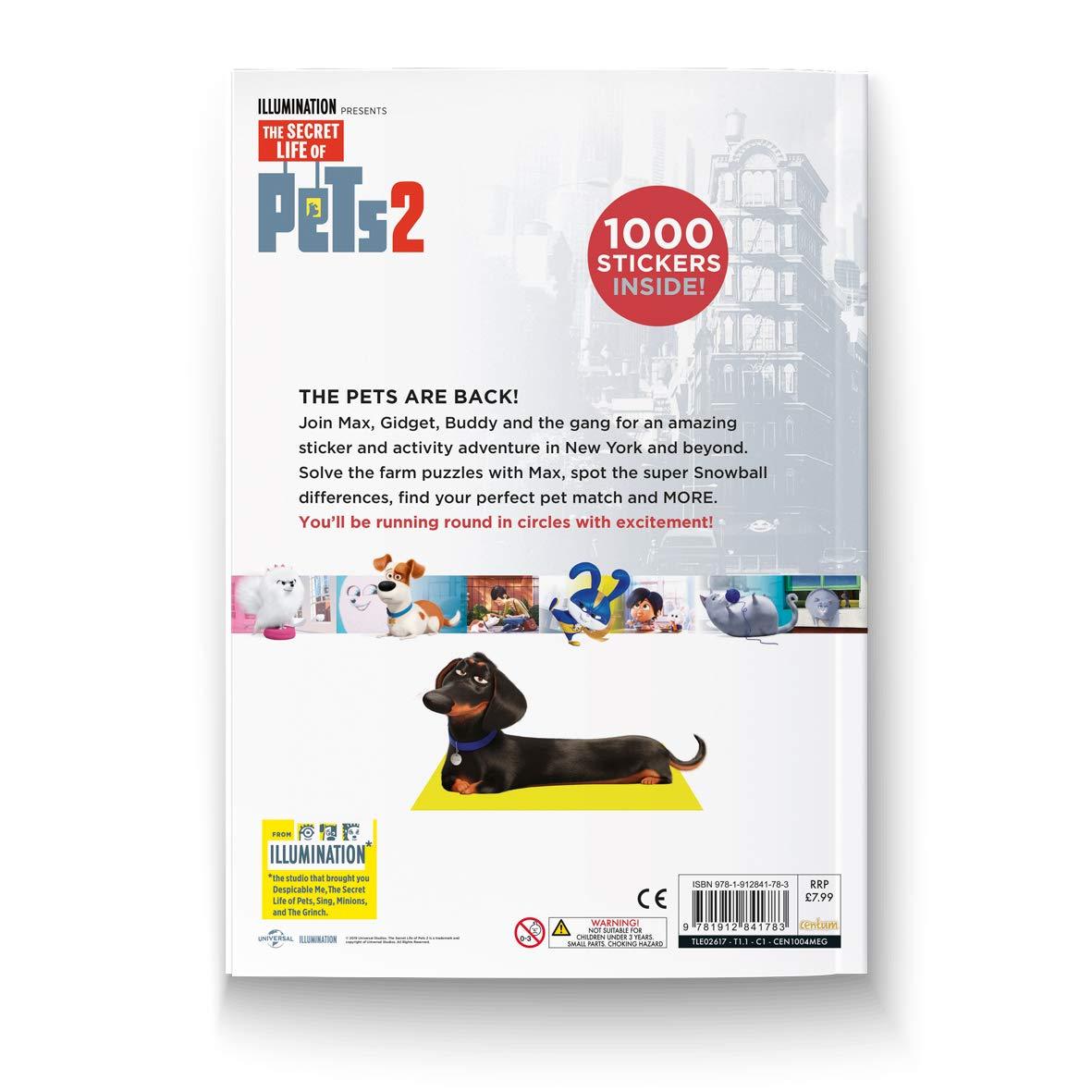 Universal Studios The Secret Life of Pets Sticker Paradise