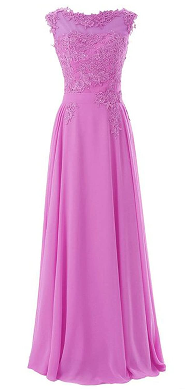 *Maillsa Chiffon Bateau Prom Dress Bridesmaid Dress Evening Dress with Lace PPC3: Amazon.co.uk: Clothing