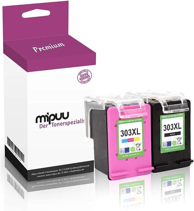 2 Mipuu cartuchos de tinta compatible con HP 303XL 303 XL 3YN10AE color negro para Envy Photo 6220 6230 WiFi 6232 6234 7130 7134 7830 7834 Tango-X: Amazon.es: Electrónica