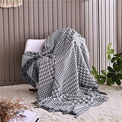 Manta de sofá Edredón de verano de algodón suave Manta de punto ...