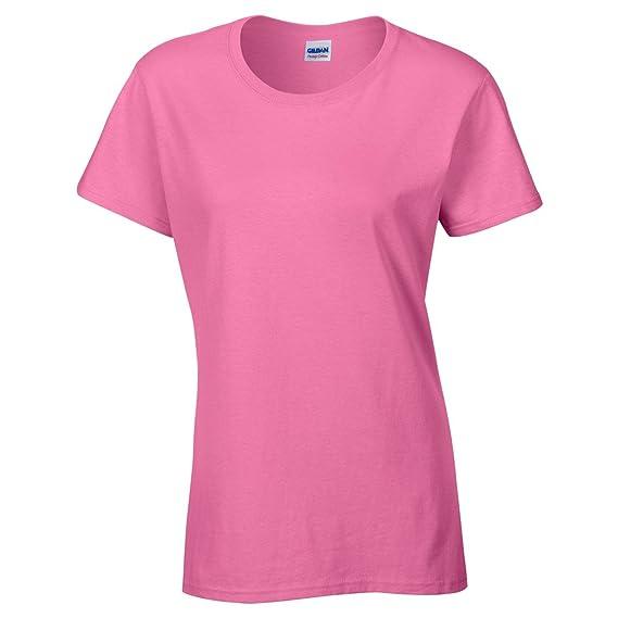 Gildan- Camiseta Missy de algodón grueso de manga corta para chica/mujer: Amazon.es: Ropa y accesorios