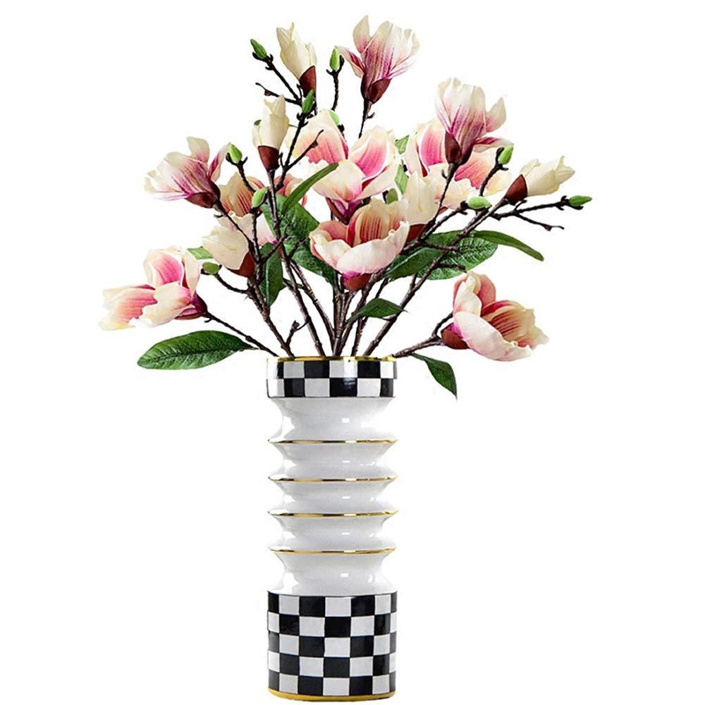 花のための花瓶グリーン植物結婚式の植木鉢の装飾ホームオフィスデスク花瓶花バスケットフロア花瓶 (サイズ さいず : L l) B07QSS5KKW  L l