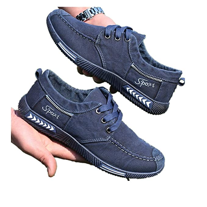 0a0b9bb2d444f Memela Clearance Sale!!Fashion Denim Canvas Shoes Men's Casual ...