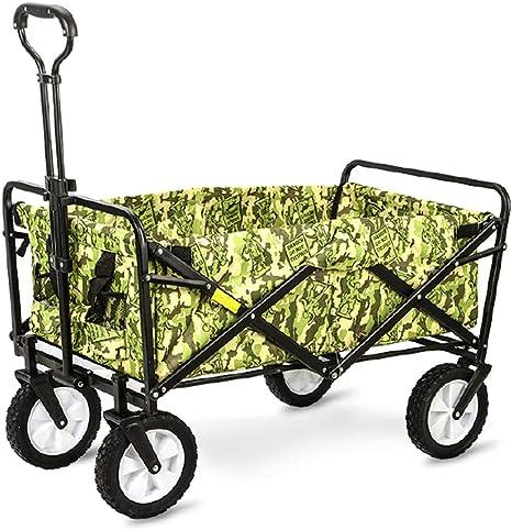 JTYX Carro Plegable al Aire Libre Carritos de jardín a Prueba de Agua Carrito de Cuatro Ruedas Ideal para Playas Jardines Parques Camping Inicio: Amazon.es: Deportes y aire libre