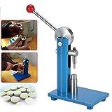 Tablet Press Machine, Manual Single Punch Powder Tablet Press Machine Pill Stamping Maker Tableting Tool(10mm)