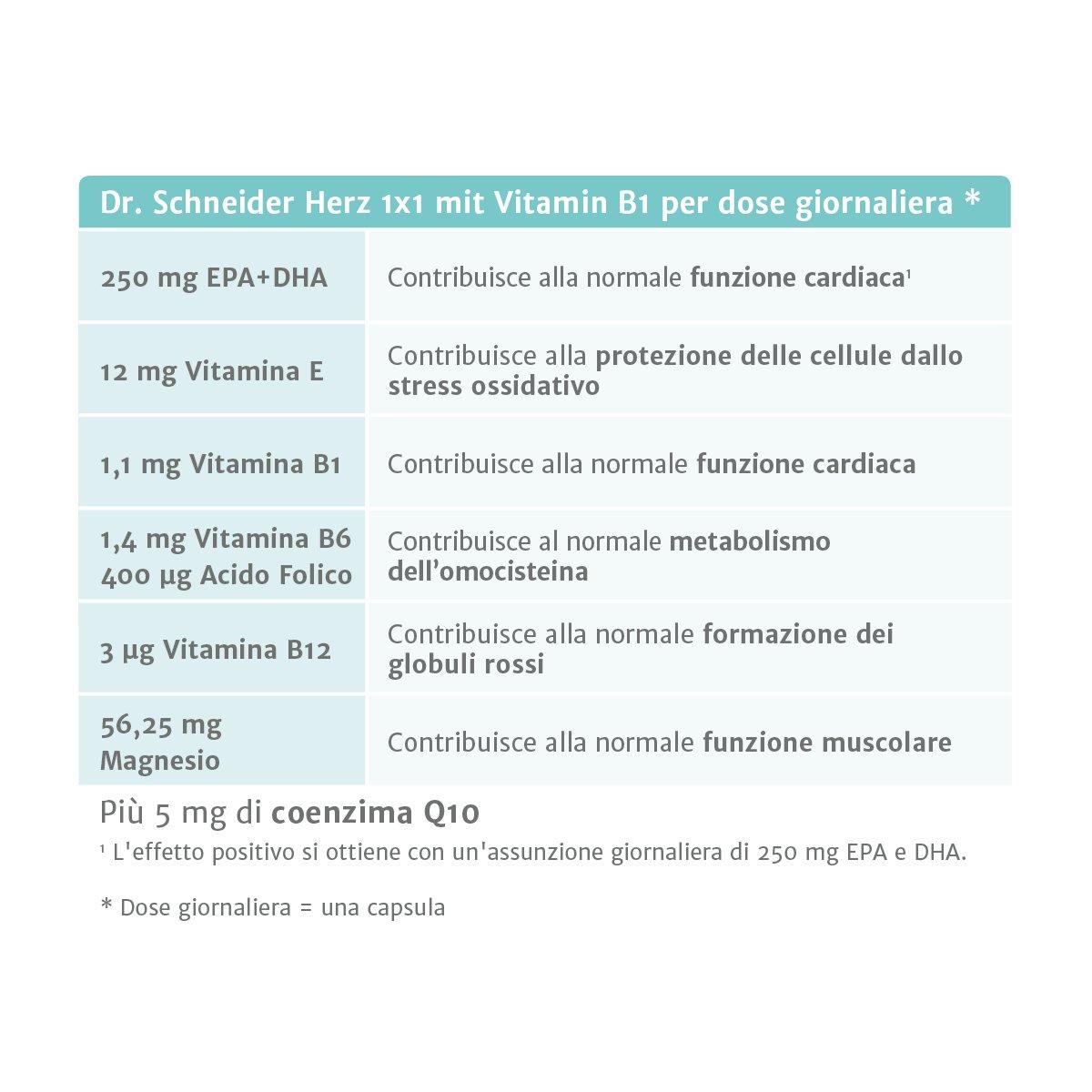 Dr. Schneider Corazón 1x1 con vitamina B1: conocido de la televisión alemana: Amazon.es: Salud y cuidado personal