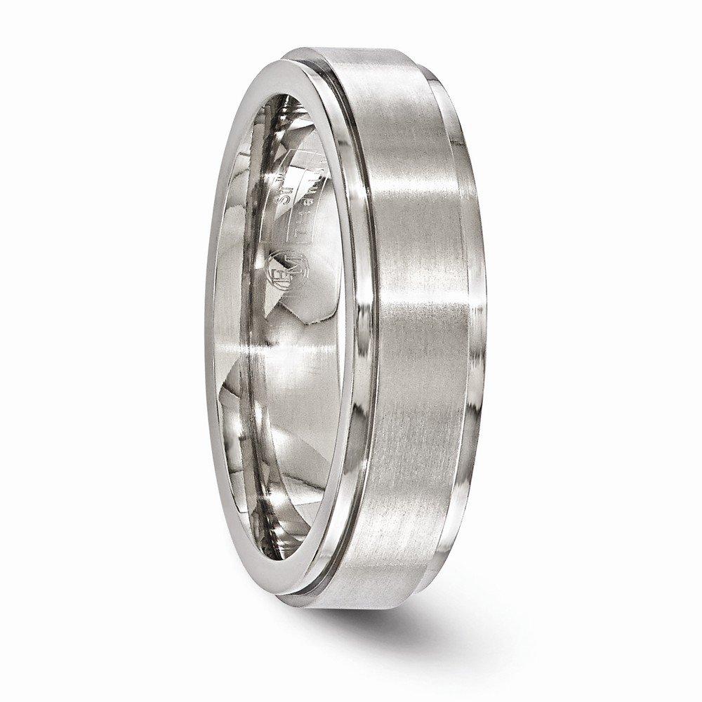 Bridal Wedding Bands Decorative Bands Edward Mirell Titanium Brushed and Polished 6mm Band Size 9