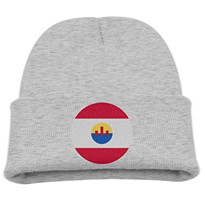 OQHO12 French-Polynesia Kids Hat Warm Soft Fashion Cute Knitted Cap for Autumn Winter