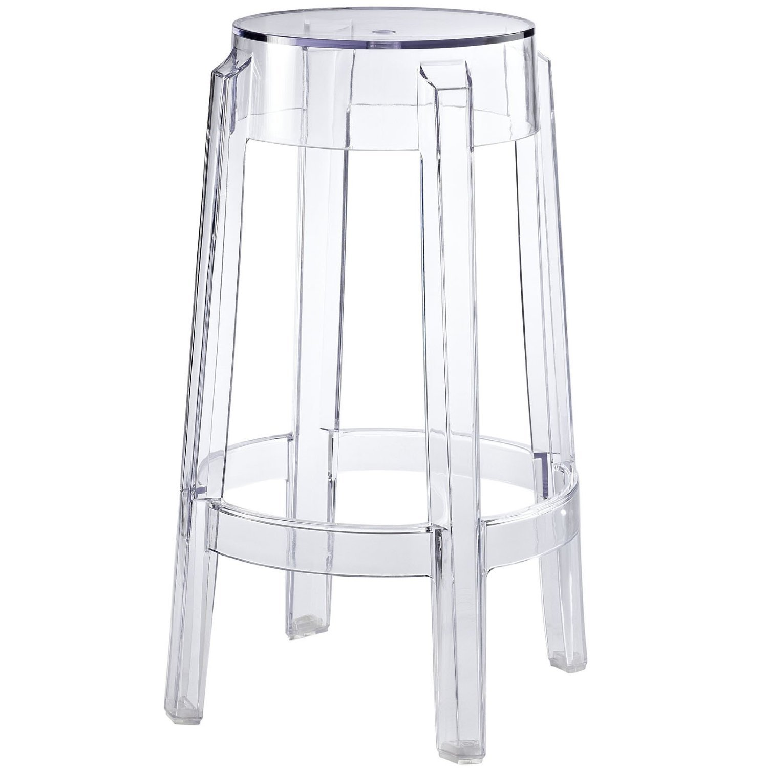 Amazon.com   Nicer Furniture ® Philippe Starck Charles Ghost Stool  Transparent Counter Height   Kitchen U0026 Dining Room Furniture