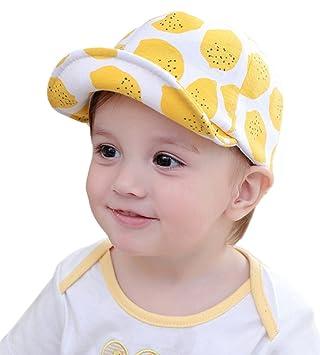 26be309eafbe6 C-Princess 可愛い レモン柄 ベビー 赤ちゃん 帽子 キャスケット バイザー キャップ キッズ 子供帽 UV