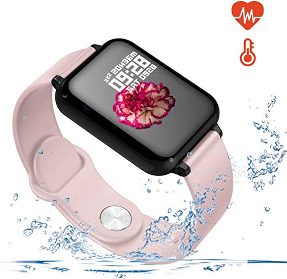 Smart Watch for Android and iOS Phones with Heart Rate & Blood Pressure Monitor, Sleep Monitort, Information Reminder & Step Counter Waterproof ...