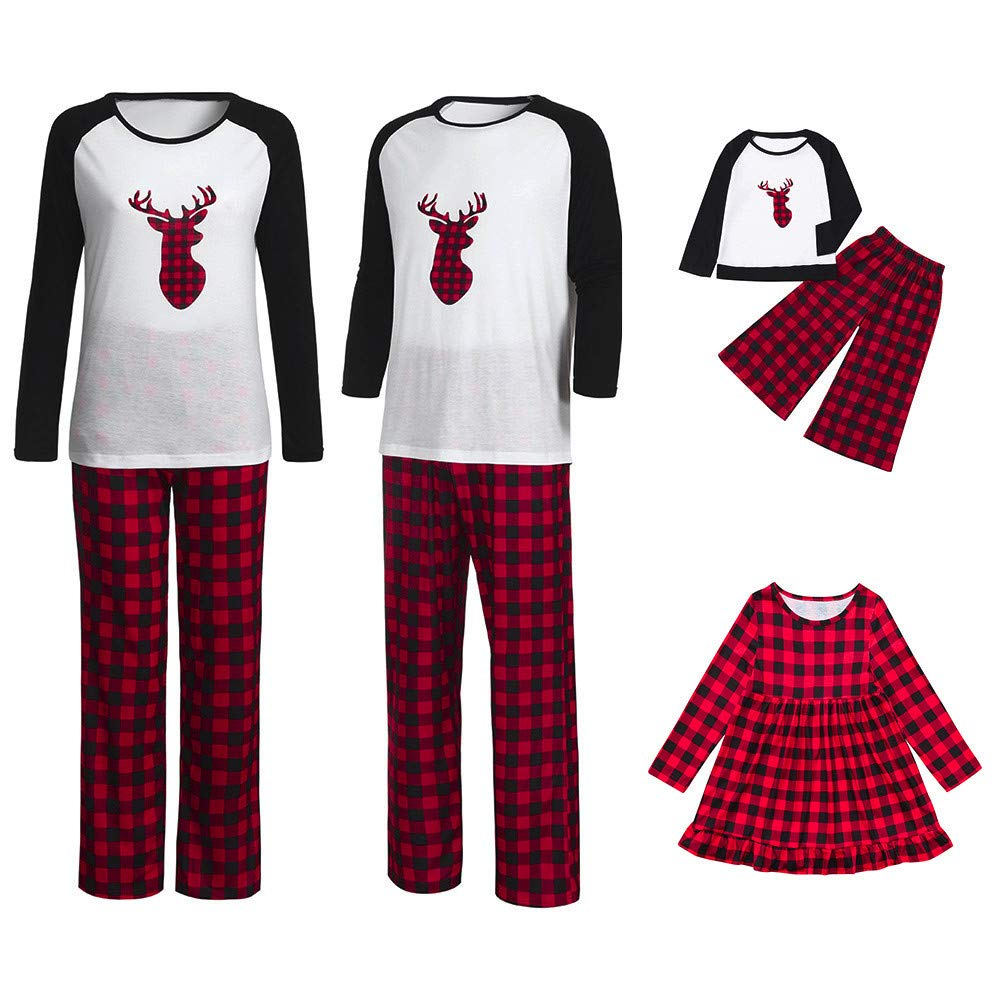 Lurryly❤Family Matching Pjs for Christmas Kids Women T Shirt Pants Pajamas Sleepwear Outfits PLOT
