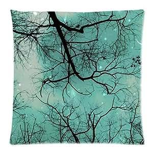 Pillowcases Blue Green Moon Star 18x18(inches)
