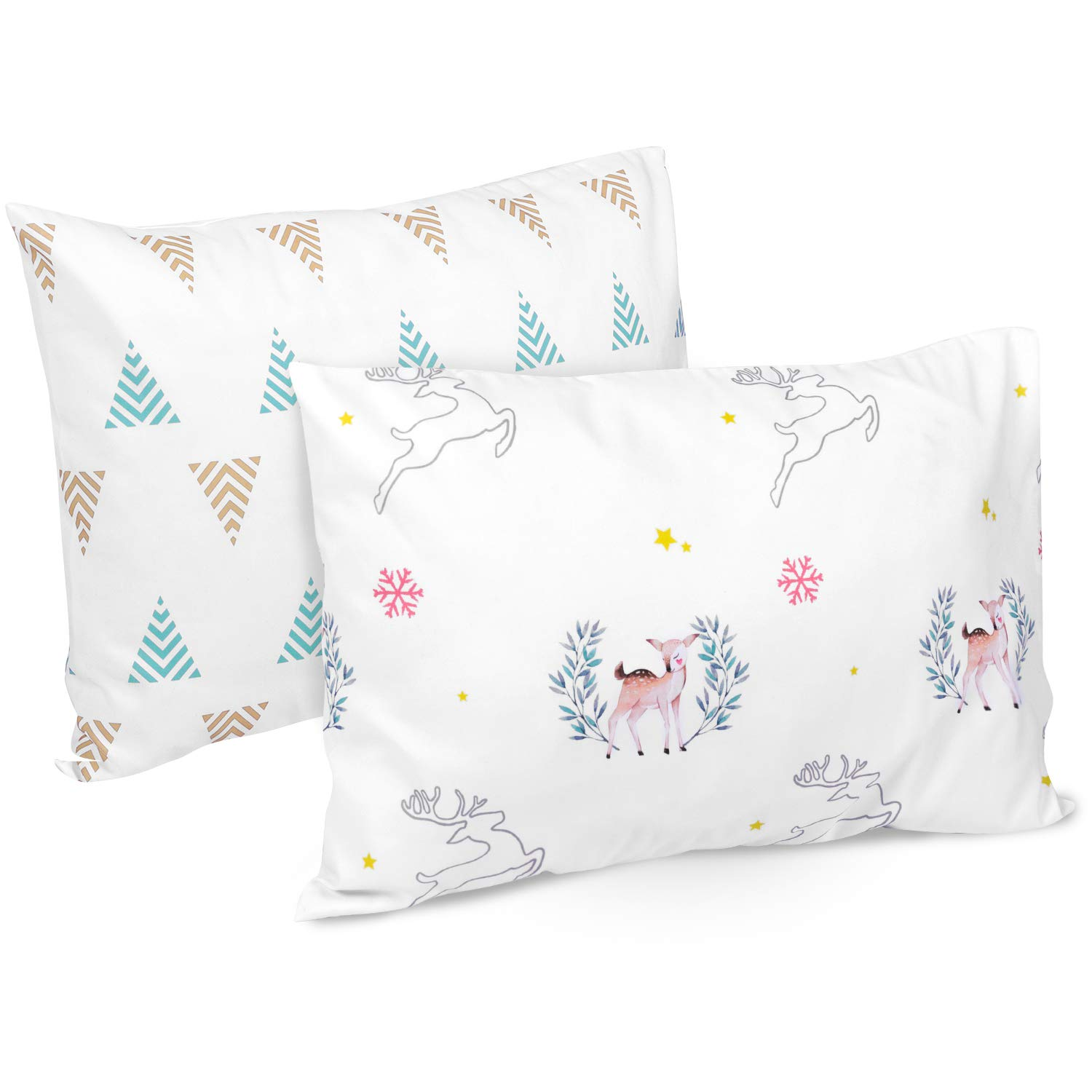 Blue Envelope Closure Machine Washable Kids Pillow Cases TILLYOU Toddler Travel Pillowcases Set of 2 14x20- Fits Pillows Sized 12x16 13x18 or 14x19 100/% Silky Soft Microfiber