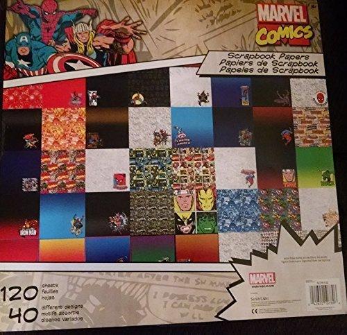 Marvel Comics Scrapbooking Paper Stack 120 Sheets ()