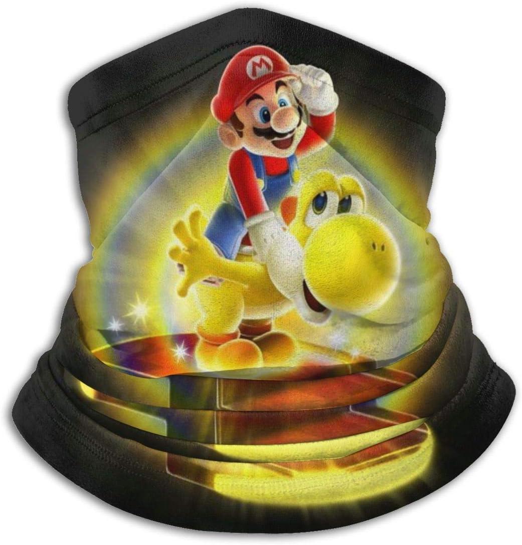 Tengyuntong XXWKer Calentador de Cuello Deporte Calentador Pasamontañas Polar Máscara Super Mario Bros Games Women Men Outdoor Neck Warmer Neck Gaiter Face Scarf Bandanas Balaclava