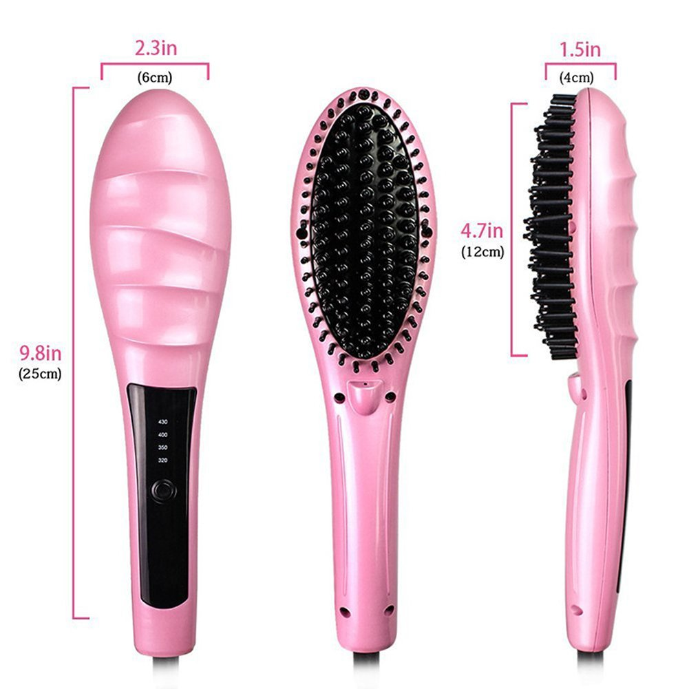 SZSYR-Fast - Peine alisador de pelo (cerámica, plancha plana, LCD, antiquemaduras, herramienta de cuidado del cabello con hierro negativo): Amazon.es: ...
