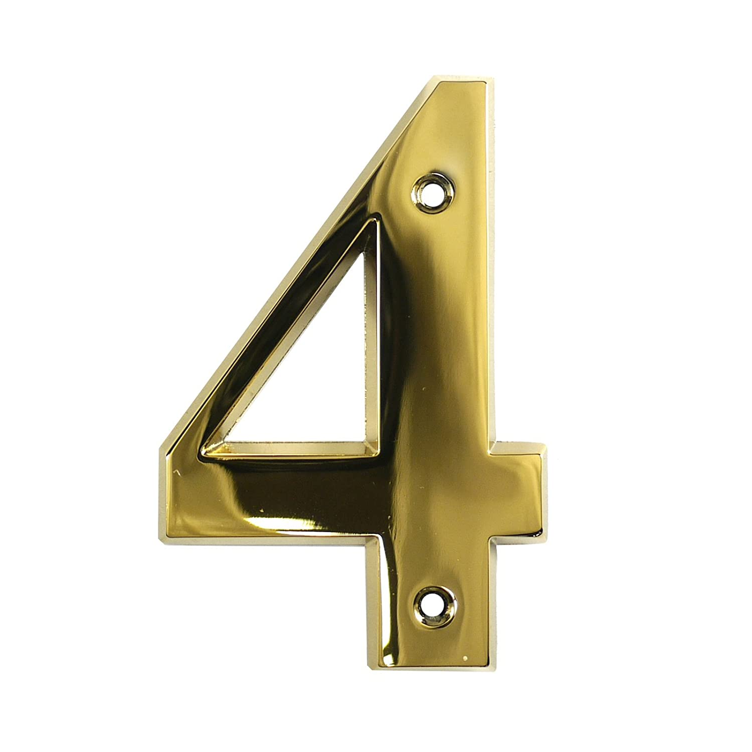Number 6 No Screws Needed Polished Brass 3 Times Roman Self Adhesive Door Numeral