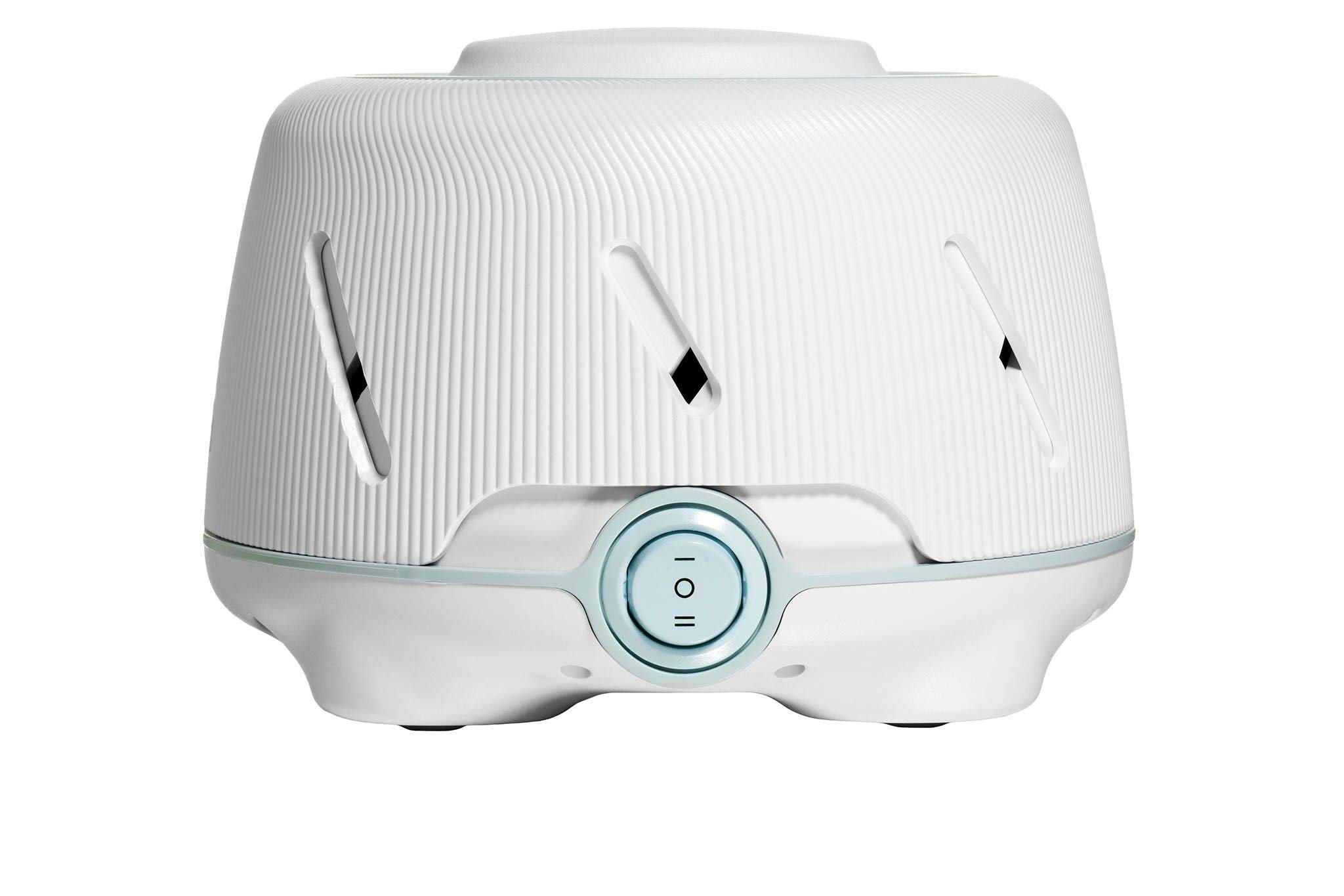 Marpac Dohm (White/Blue) | The Original White Noise Machine | Soothing Natural Sound from a Real Fan | Noise Cancelling | Sleep Therapy, Office Privacy, Travel | For Adults & Baby | 101 Night Trial by Marpac