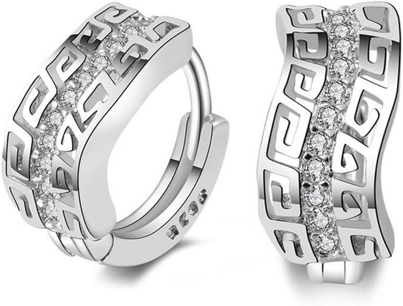 Hosaire 1 Par de señoras de la Manera Muchachas de Diamantes Super Flash de una Sola Fila Pendiente del Diamante Brillantes Pendientes de Cristal