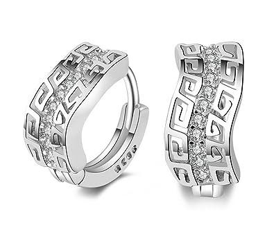 Hosaire 1 Paar Fashion Charm Diamant Ohrringe Silber Schmuck Ohrringe Ohrstecker für Frauen Mädchen Geschenk